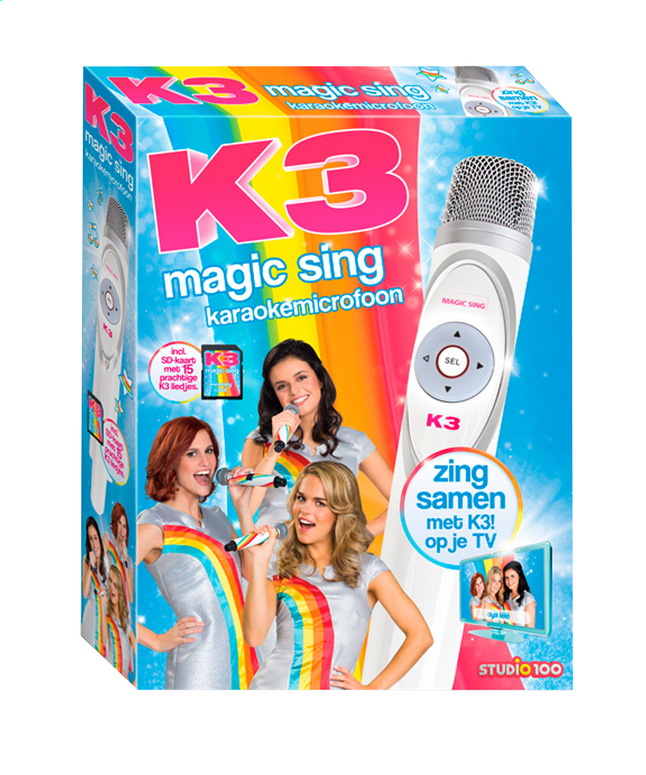 Afbeelding van Microfoon K3 Magic Sing karaokemicrofoon from DreamLand