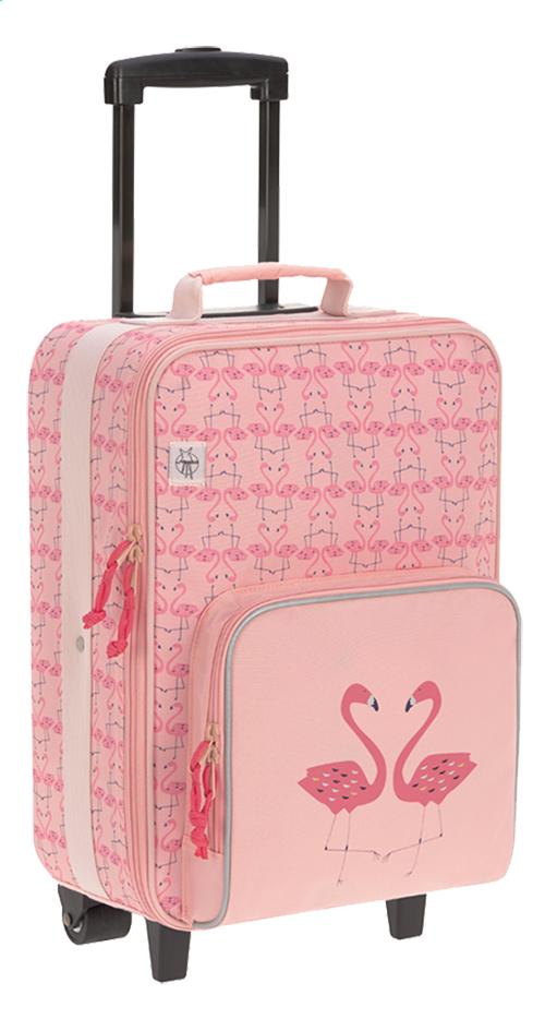 Lässig zachte reistrolley Flamingo 46 cm