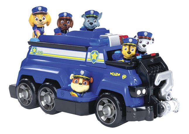 PAW Patrol Chase's Team Police Cruiser + 6 figuren