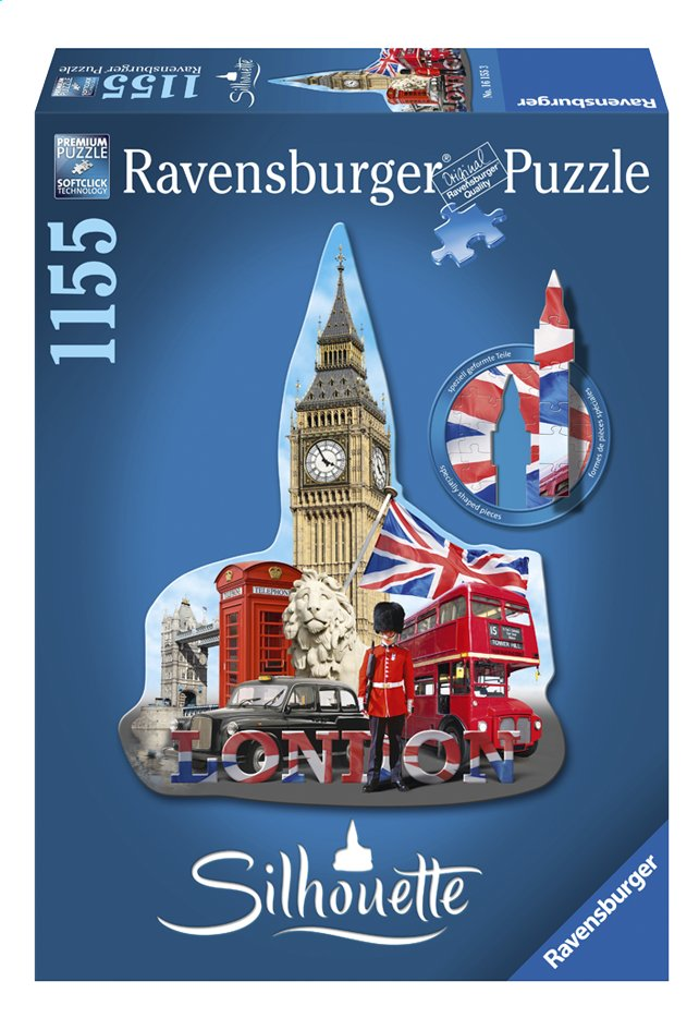 Afbeelding van Ravensburger puzzel Silhouet Big Ben London from DreamLand