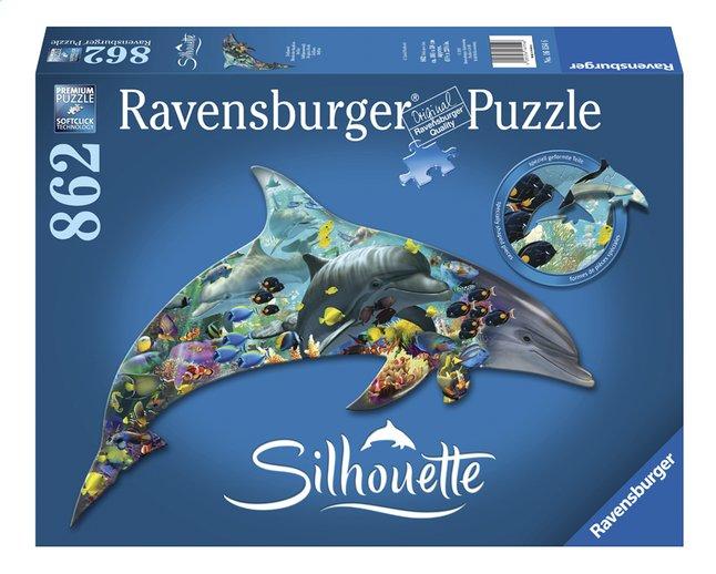 Image pour Ravensburger puzzle Silhouette Le monde des dauphins à partir de DreamLand
