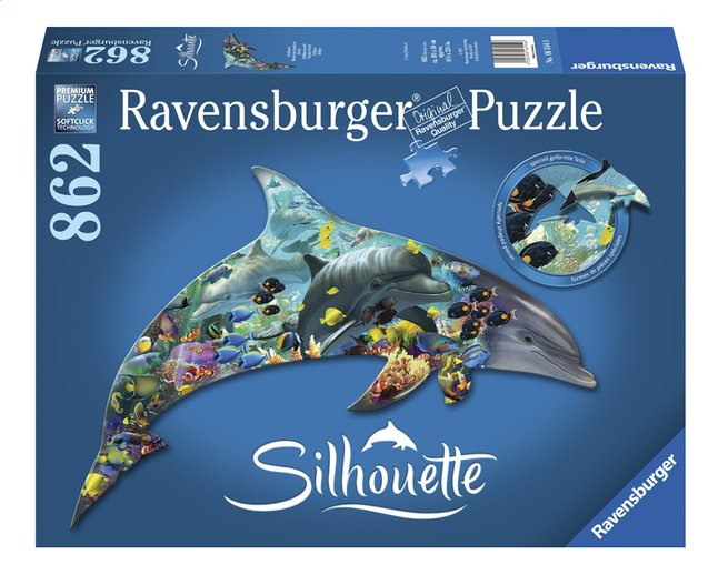Afbeelding van Ravensburger puzzel Silhouet Dolfijnenwereld from DreamLand
