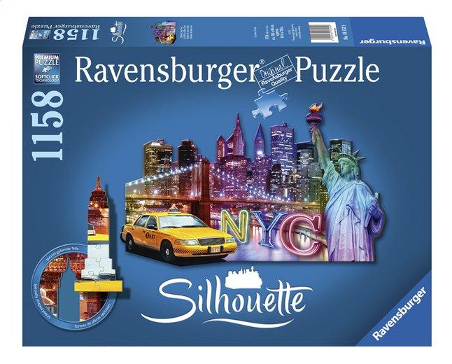 Afbeelding van Ravensburger puzzel Silhouet Skyline New York from DreamLand