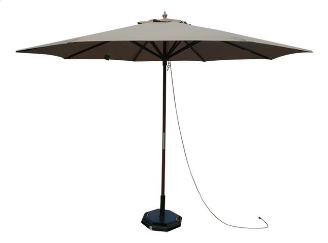 Image pour Parasol de luxe en bois FSC Ø 3 m taupe à partir de DreamLand