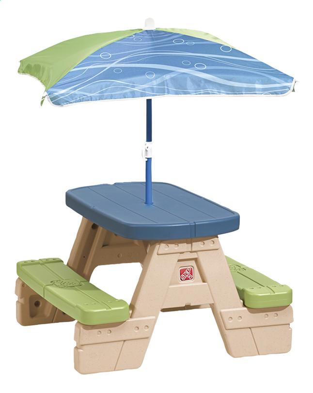 Kinder Picknicktafel Kunststof.Step2 Kinderpicknicktafel Sit And Play Met Parasol Dreamland