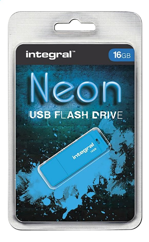 Integral clé USB Neon 16 Go bleu