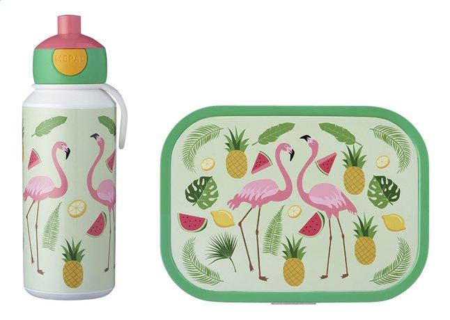 Afbeelding van Mepal brooddoos en drinkfles Campus - Tropical flamingo from DreamLand