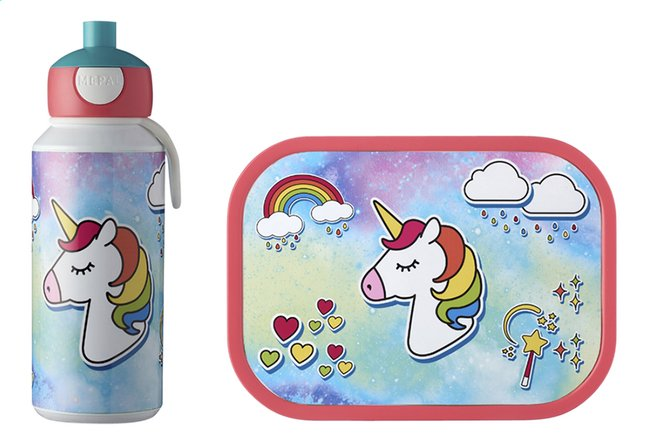 Afbeelding van Rosti Mepal brooddoos en drinkfles Campus - Unicorn from DreamLand