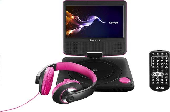 Afbeelding van Lenco draagbare DVD-speler DVP-754 7'' met hoofdtelefoon roze from DreamLand
