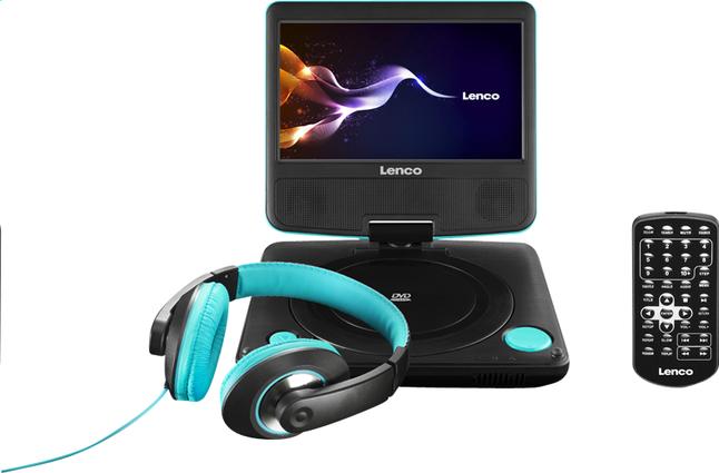 Image pour Lenco lecteur DVD portable DVP-754 7'' avec casque audio bleu à partir de DreamLand