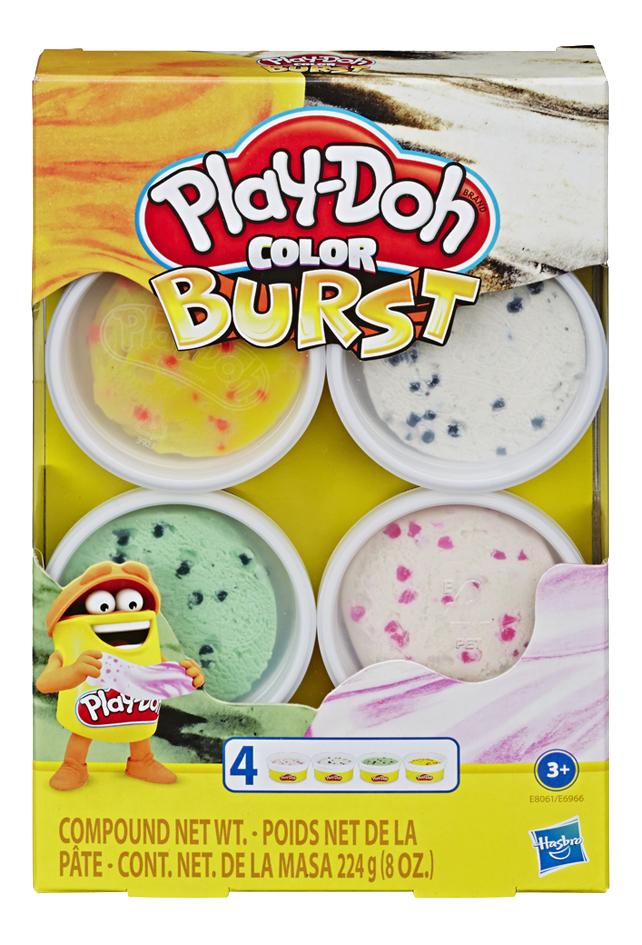 Play-Doh Color Burst 4 pots - orange