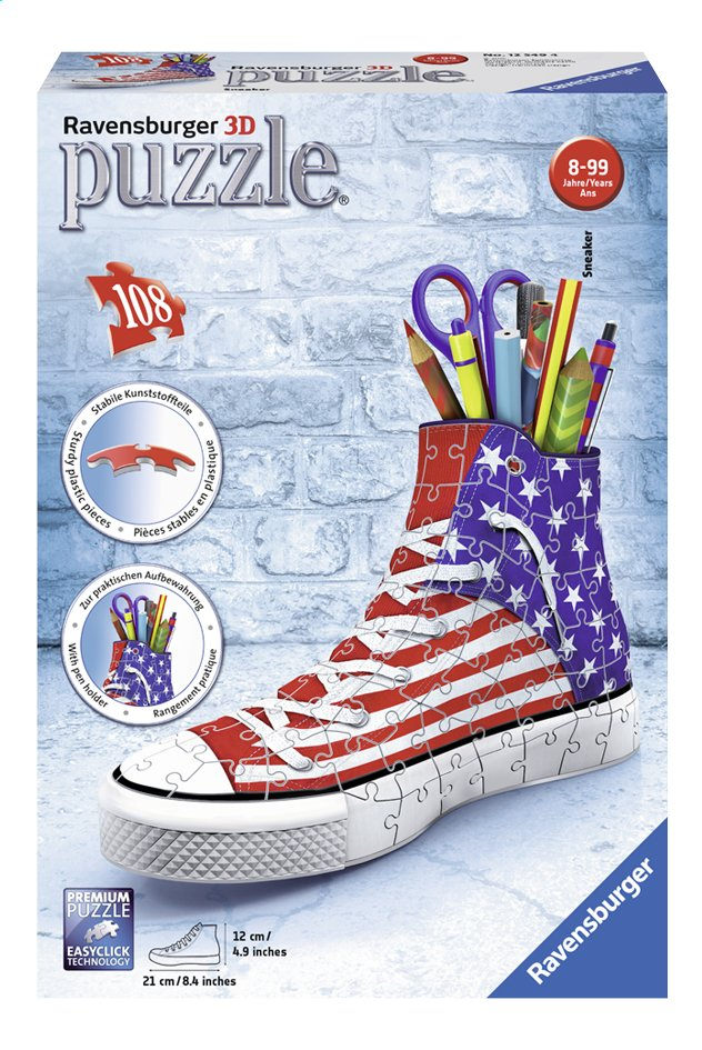 Afbeelding van Ravensburger 3D-puzzel Sneaker American Style from DreamLand