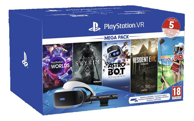 Playstation VR Mega Pack II + Camera + 5 jeux FR/ANG