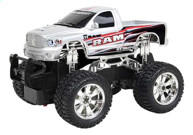 Afbeelding van New Bright auto RC Jeep RAM grijs from DreamLand
