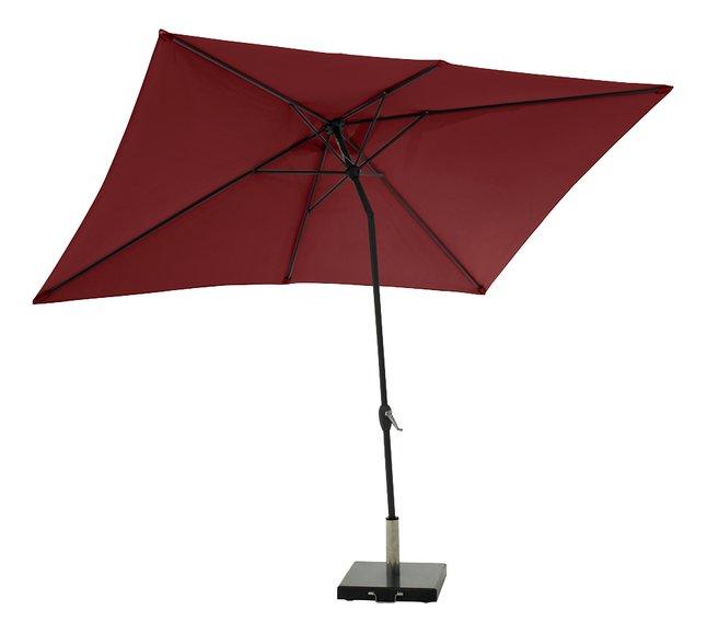 Afbeelding van Aluminium parasol 2 x 3 m bordeaux from DreamLand