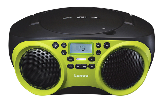 Lenco radio/lecteur CD SCD-200 lime