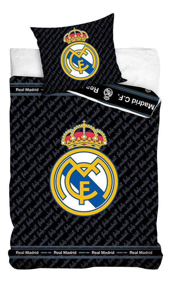 Afbeelding van Dekbedovertrek Real Madrid katoen 140 x 200 cm zwart from DreamLand