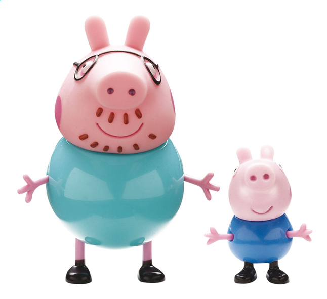 2 Figurines Peppa Pig Papa Pig George
