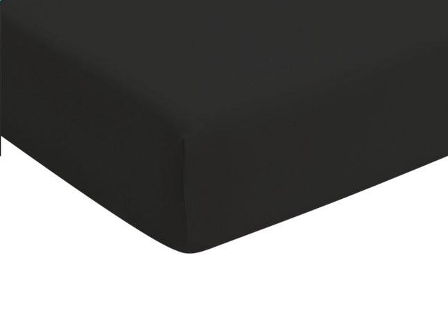 Romanette Drap-housse noir jersey double 90 x 200 cm