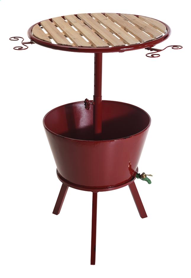 Afbeelding van Bartafel met koeler rood diameter 66 cm from DreamLand