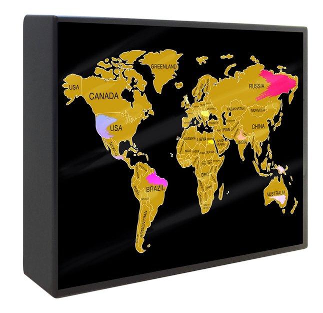 Afbeelding van Lightbox Scratch Map from DreamLand