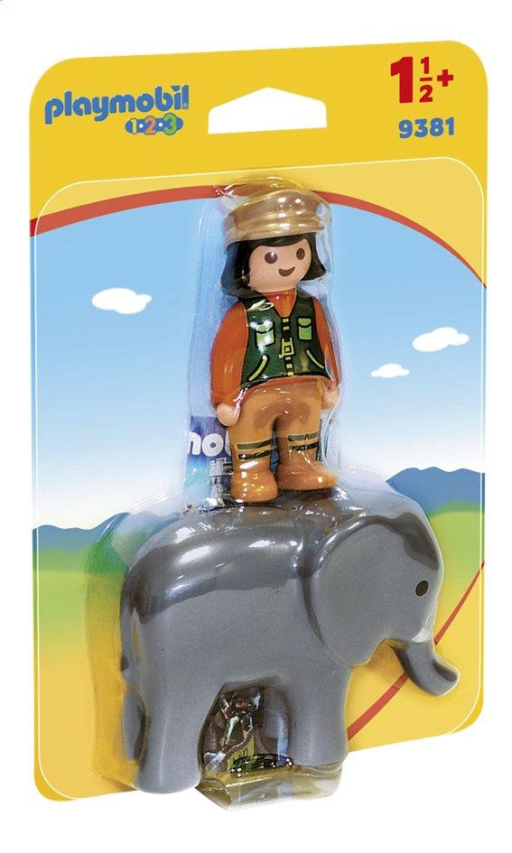 Image pour PLAYMOBIL 1.2.3 9381 Soigneuse avec éléphanteau à partir de DreamLand