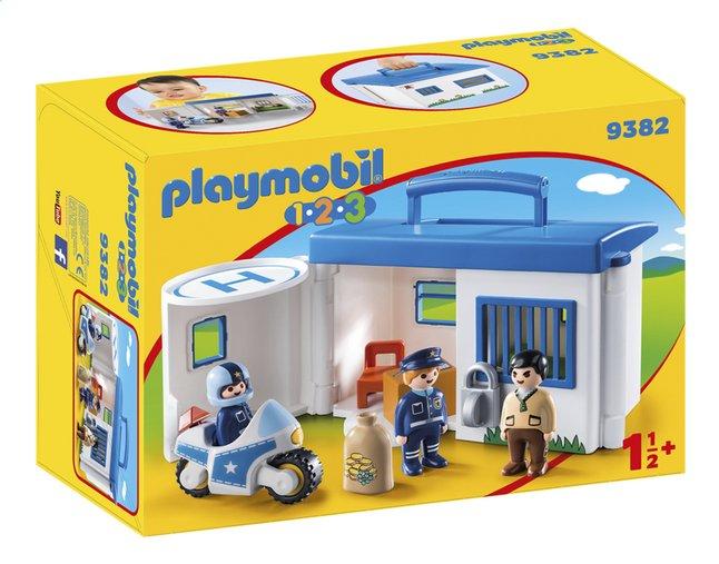 PLAYMOBIL 1.2.3 9382 Commissariat de police transportable