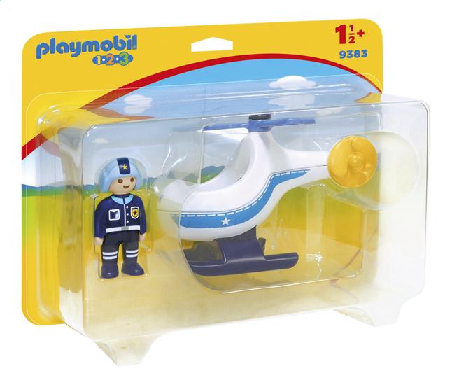 PLAYMOBIL 1.2.3 9383 Hélicoptère de police