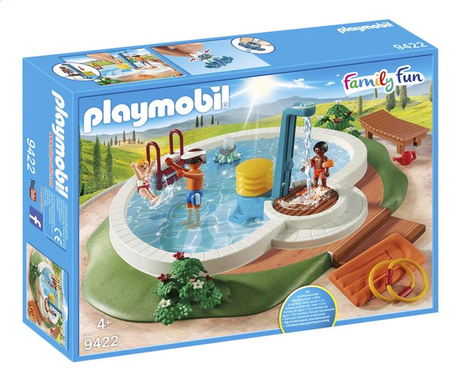 Playmobil family fun 9422 piscine avec douche dreamland for Piscine playmobil prix
