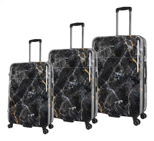 Afbeelding van Saxoline harde trolleyset met 3 koffers Marble Black from DreamLand