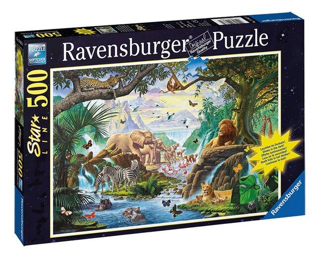 Afbeelding van Ravensburger puzzel Dieren bij de drinkplaats from DreamLand