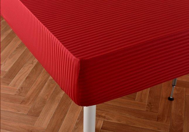 Image pour Sleepnight drap-housse Satinada rouge en satin de coton 90 x 200 cm à partir de DreamLand