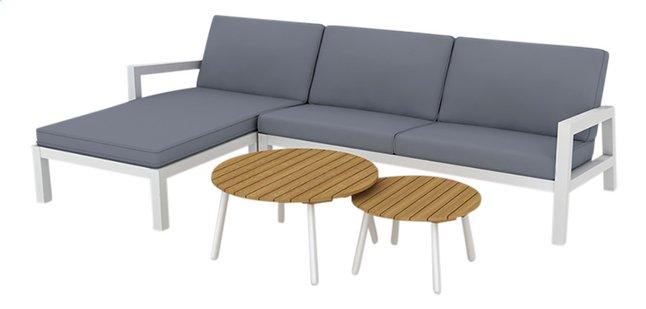 Afbeelding van Suns Blue loungeset Lago tweezit rechts + 2 salontafels antraciet/wit from DreamLand