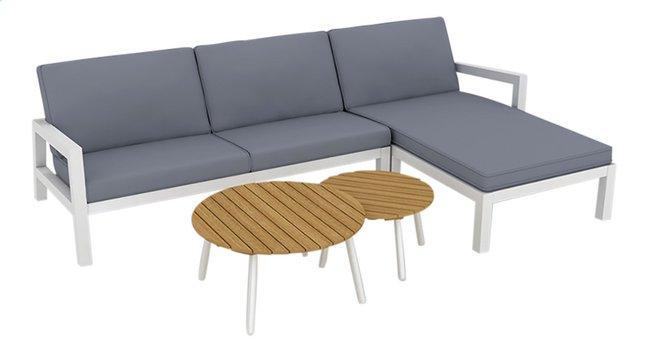 Afbeelding van Suns Blue loungeset Lago tweezit links + 2 salontafels antraciet/wit from DreamLand