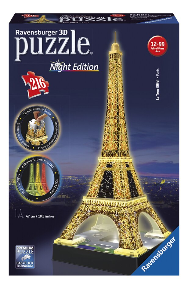 Afbeelding van Ravensburger 3D-puzzel Night Edition Eiffeltoren from DreamLand