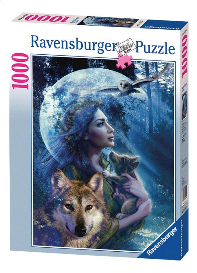 Afbeelding van Ravensburger puzzel Vrouw met wolven from DreamLand