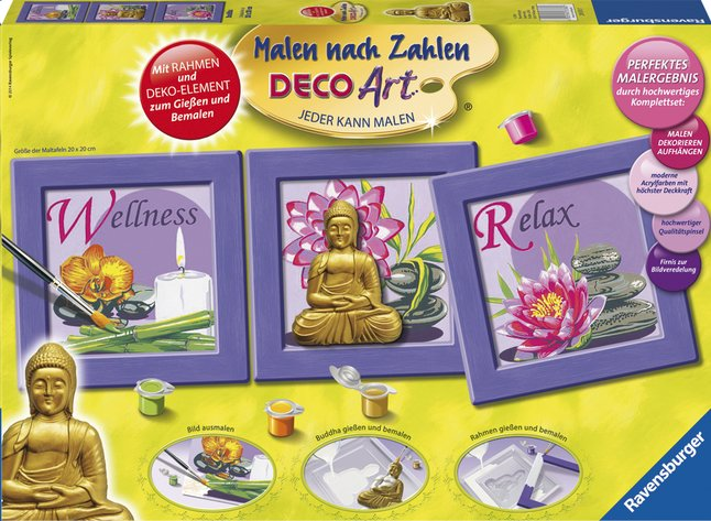 Afbeelding van Ravensburger Schilderen op nummer: Buddha from DreamLand