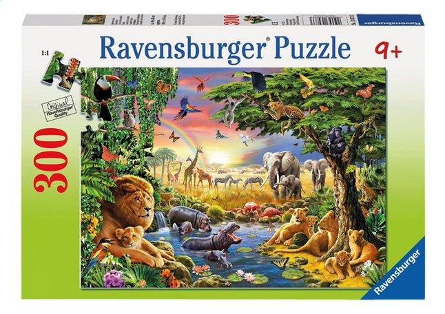 Afbeelding van Ravensburger puzzel Avondzon bij de drinkplaats from DreamLand