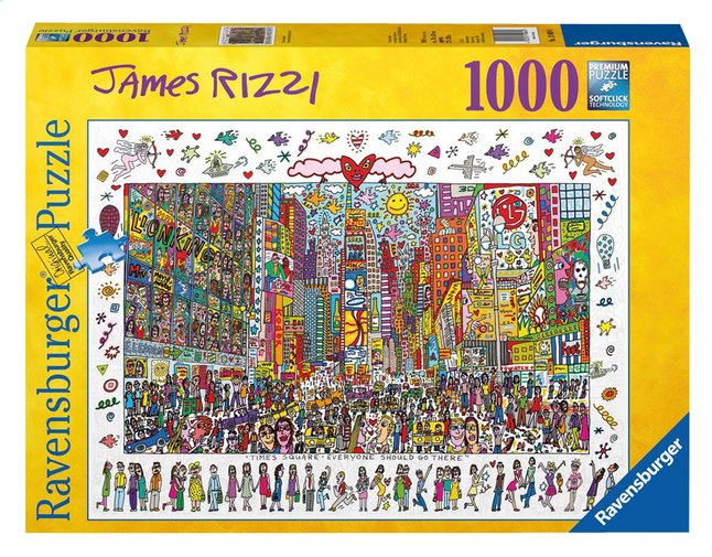 Afbeelding van Ravensburger puzzel James Rizzi: Times Square from DreamLand