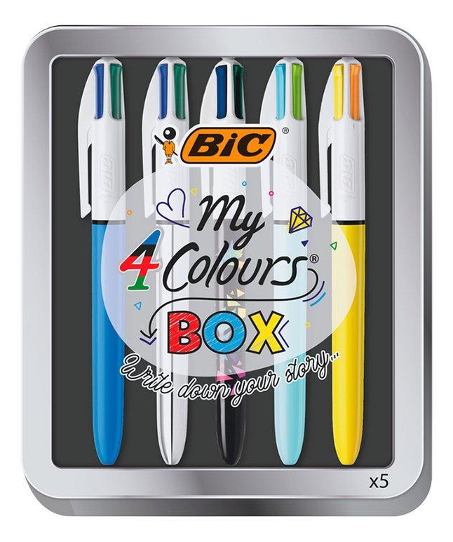 Afbeelding van Bic vierkleurenbalpen My 4 Colours BOX - 5 stuks from DreamLand