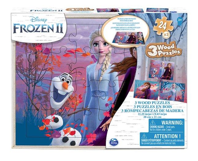 Puzzel 3-in-1 Disney Frozen II van hout