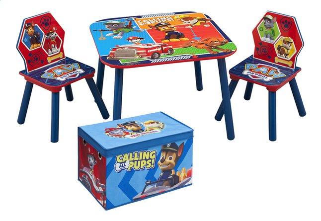 Image pour Table avec 2 chaises pour enfants Pat' Patrouille + coffre à jouets Pat' Patrouille à partir de DreamLand
