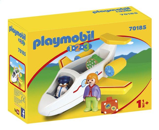 PLAYMOBIL 1.2.3 70185 Avion avec pilote et vacancière