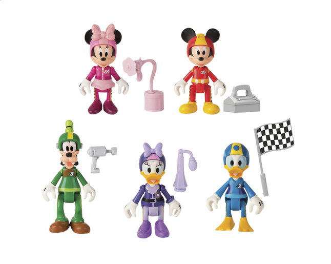 Figurine articulée Disney Mickey and the Roadster Racers série 1 - 5 pièces
