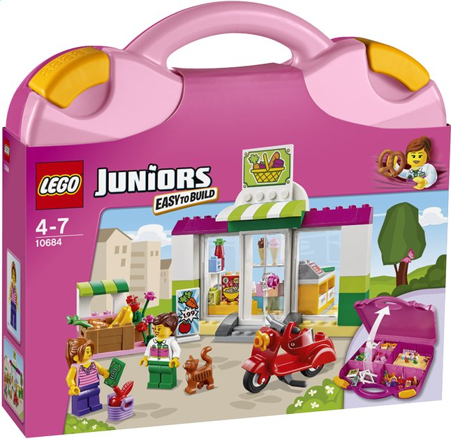 Afbeelding van LEGO Juniors 10684 Supermarkt koffer from DreamLand