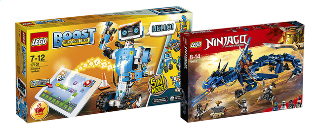 Afbeelding van LEGO Boost Creatieve Toolbox 17101 + Ninja Stormbringer 70652 from DreamLand