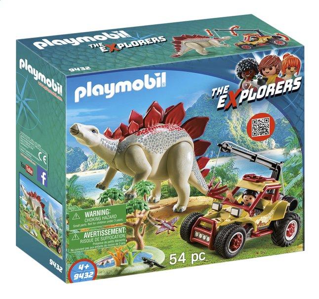 PLAYMOBIL The Explorers 9432 Explorer avec véhicule et stégosaure