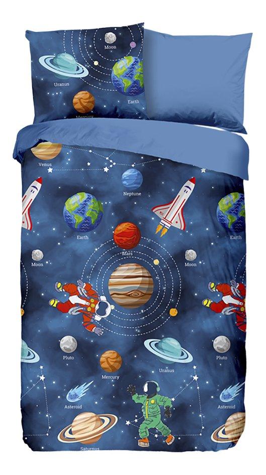Afbeelding van Good Morning Dekbedovertrek Space flanel 140 x 220 cm from DreamLand