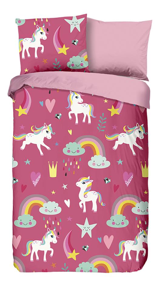 Afbeelding van Good Morning Dekbedovertrek Unicorn flanel 140 x 220 cm from DreamLand