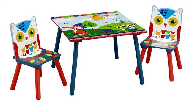 Plastic Stoel Kind : Delta children tafel met 2 stoelen voor kinderen woodland dreamland